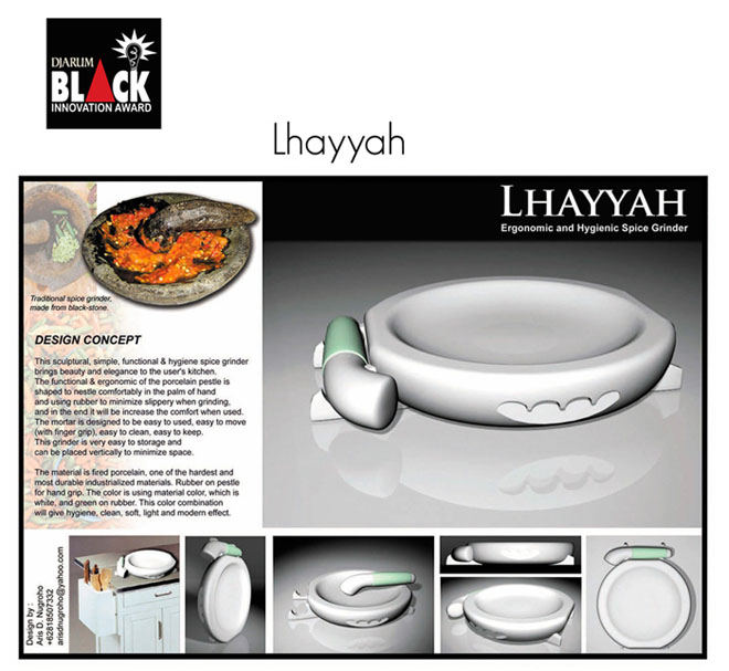 Lhayyah. Finalist of Djarum Black Innovation Award 2007.
