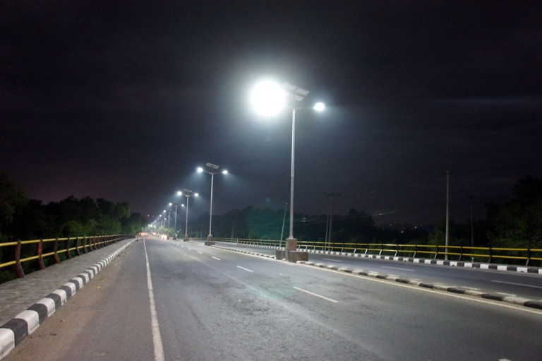 Solar LED Roadlighting at By Pass Nusa Dua Bali. 2012. Responsible for system configuration & business development