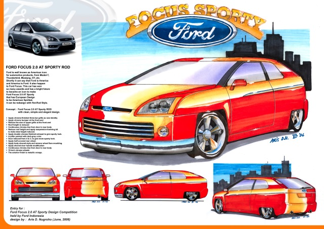 Ford Focus styling competition. 2006