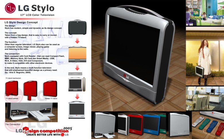 LG Television Design competition. 2005