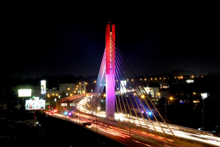 Pasupati Bridge decorative lighting, Bandung. 2013. As a technical & design leader.