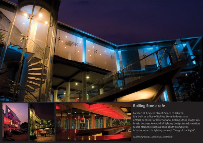 Rolling Stone cafe, Jakarta. 2008. As technical support. Design by LAD Jakarta.