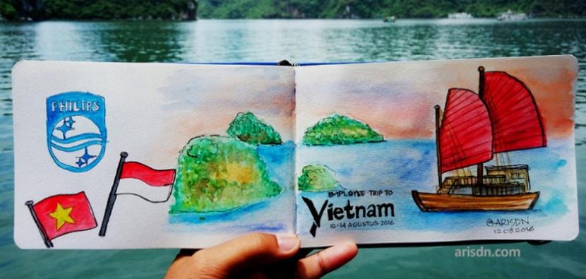Perjalanan ke Hanoi dalamsketsa