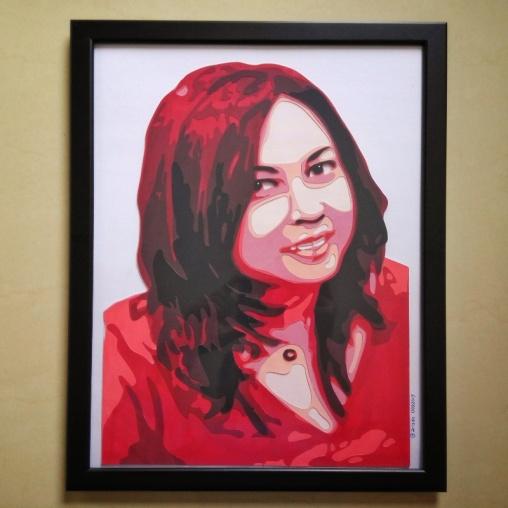 Final artwork with frame
