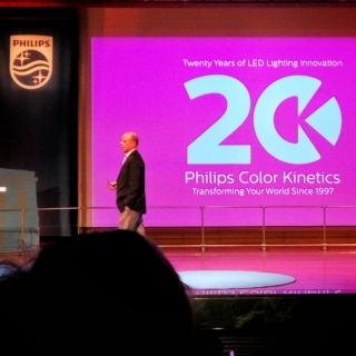 Paul Kennedy, GM of Philips Color Kinetics on stage at Philips Lighting Partner Summit 2017