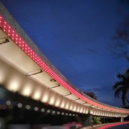 Simpang Susun Semanggi decorative lighting, Jakarta