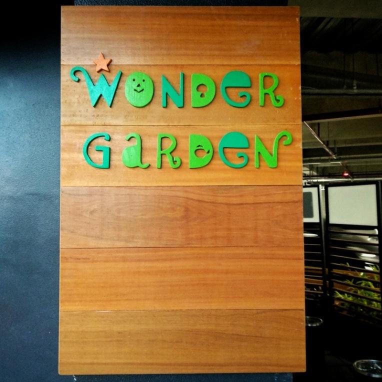 Wonder Garden signage