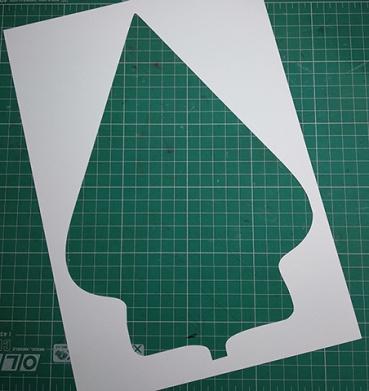The basic shape of gunungan wayang