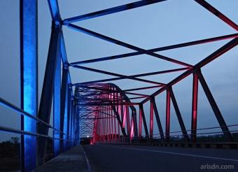 Half red, half blue