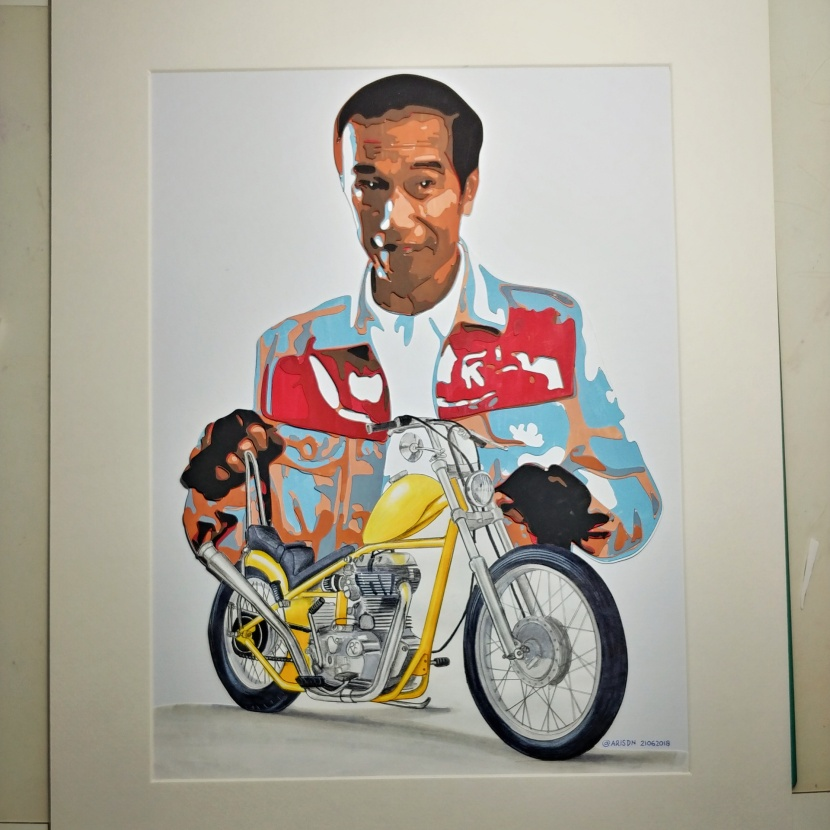 Papercutting & Painting: Jokowi & Chopper.