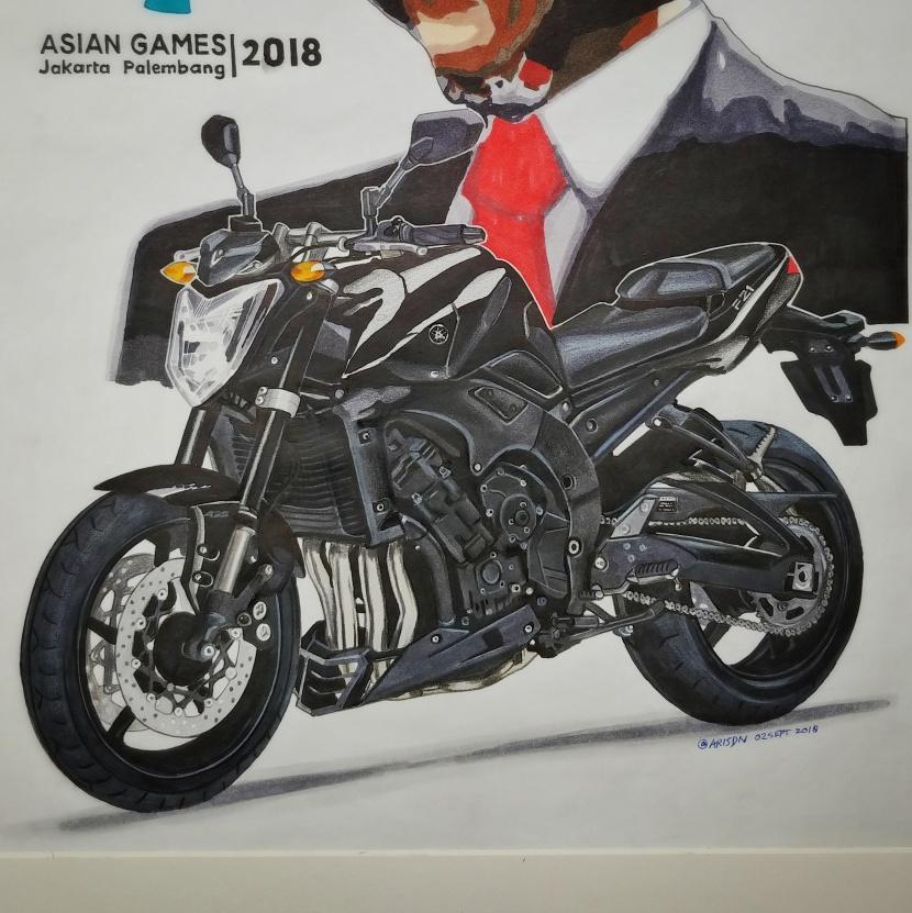 Asian Games 2018, Presiden Jokowi dan YamahaFZ1