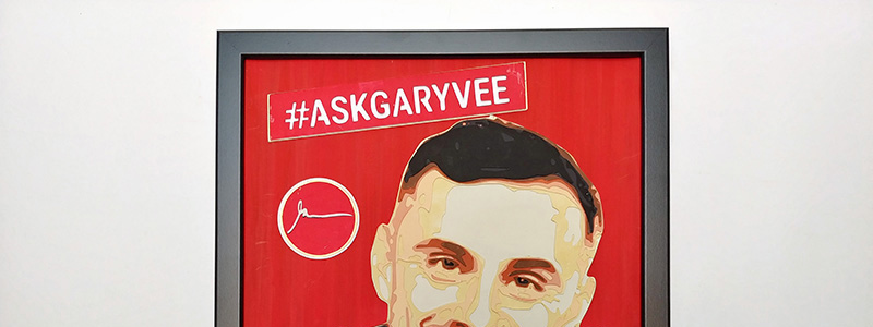 AskGaryVee, papercutting+painting.